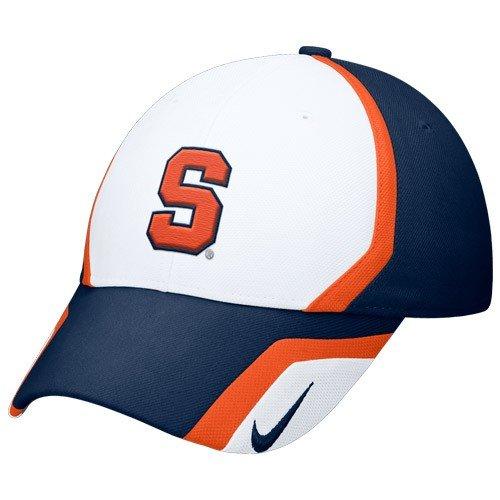 - NIKE Syracuse Orange White-Navy Blue 2009 Sideline Swoosh Flex Fit Hat