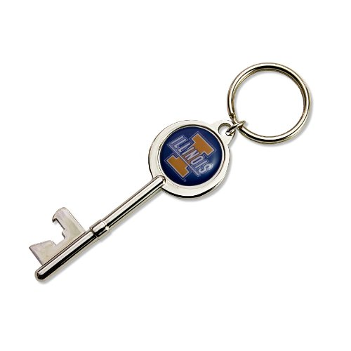 NCAA Illinois Fighting Illini Skeleton Key Bottle Opener Key ()