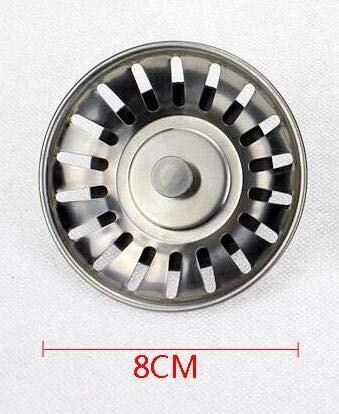 1Pc Stainless Bath Basin Kitchen Sink Strain Waste Plug Chrome Stopper
