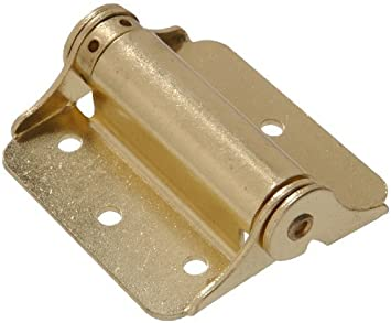 Adjustable The Hillman Group 851598 3 Heavy Duty Spring Hinge Brass Finish 2-Pack