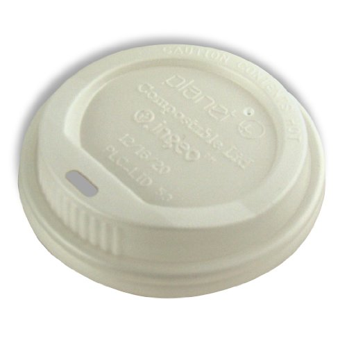 Planet + 100% Compostable PLA Hot Cup Lid, Fits 12/16/20 oz Single Wall Hot Cups and 12/16 oz Double Wall Hot Cups, 1000-Count (Pla Hot Cups)