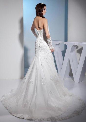 GEORGE Zeitlos Hochzeitskleid Elfenbein Groesse 46 Ausschnitt Herz BRIDE Meerjungfrau rWB7nSzZr