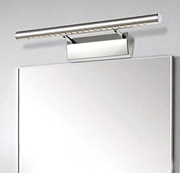 Unicoco Wandleuchte Badezimmer Spiegel Licht Weiß Kaltlicht 5050 SMD LED,  Edelstahl, Silber, 50
