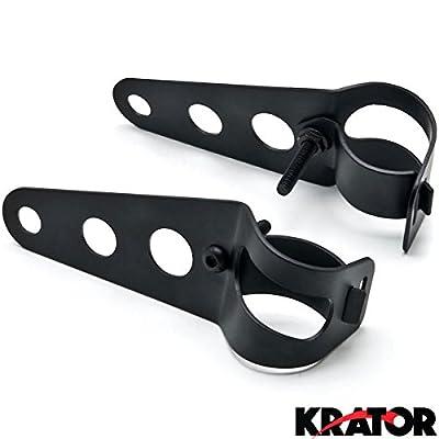 Krator Black Headlight Mounting Bracket Fork Ears 31-37mm For Honda Gold Wing Goldwing GL 500 650 1000 1100