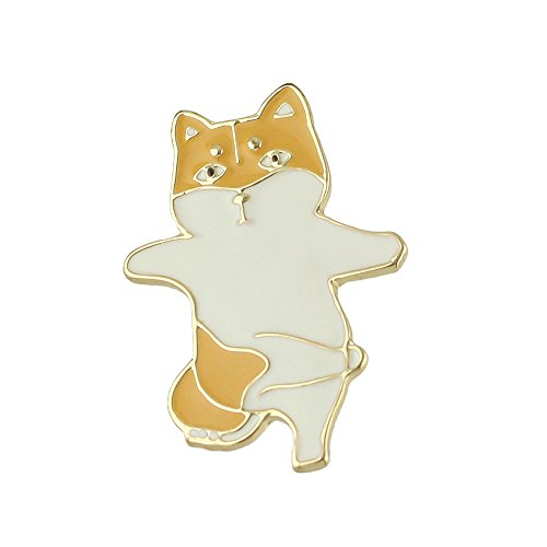 New Style Fashion Gold Alloy Black Yellow White Enamel Cute Cat Brooches Pin for Fashion Lady Accessories (yellow) Black Yellow Brooch