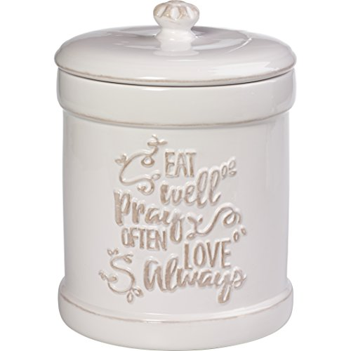 Precious Moments 173413 Ceramic Kitchen Canister Inspirational Home Decor, One Size, Multi