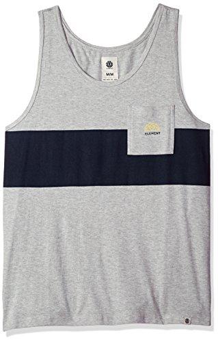 Element Men's Wills Knit Tank Top, Grey Heather, - Tank Element Top Cotton