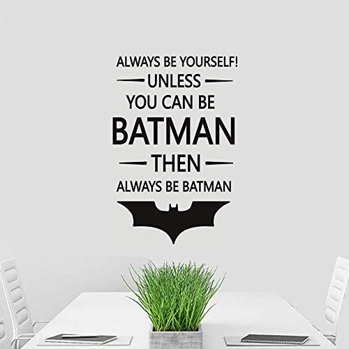 Edvoynlm Batman Wall Decal Sticker Always Be Yourself Unless You Can Be Batman Quote, Batman Decor, Kids Room Decor, Kids Wall Art, Nursery Removable Vinyl Wall Décor (17
