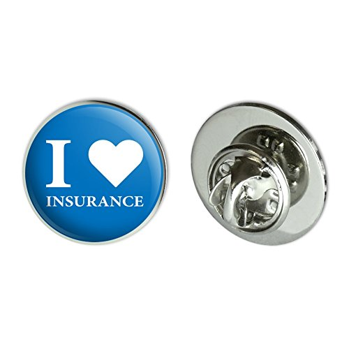 "I Love Insurance Metal 0.75"" Lapel Hat Pin Tie Tack Pinback"