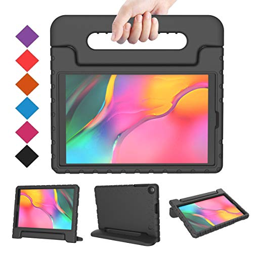 BMOUO Kids Case for Samsung Galaxy Tab A 10.1 (2019) SM-T510/T515, Shockproof Light Weight Protective Handle Stand Kids Case for Galaxy Tab A 10.1 Inch 2019 Release SM-T510/T515 - Black