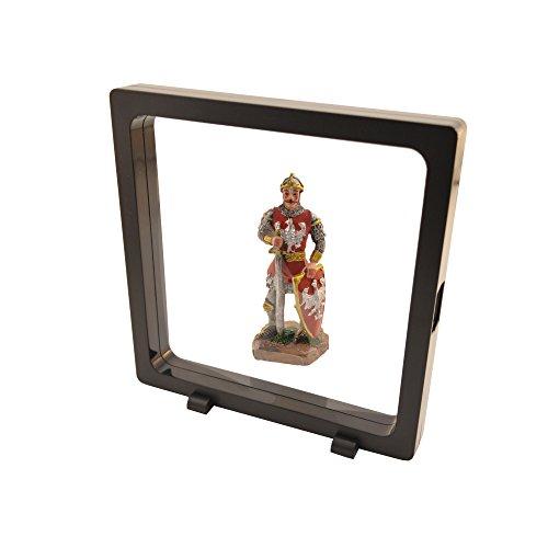 PELLER'S Cadre de collection 3D VISIO Noir XL: 18cm X 18cm. Pour pièces de monnaies aux timbres, bijoux, montres, couteaux, photos, médailles etc