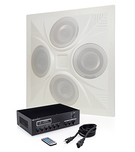 - Pure Resonance Audio SD4 SuperDispersion Ceiling Speaker Bundle with Pure Resonance Audio MA30BT 7 Channel Bluetooth Mixer Amplifier and Wire - Retail Sound System (3 Items)