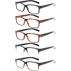 Reading Glasses 5 Pairs Quality Readers ...