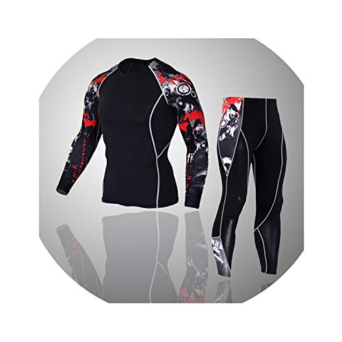 2019 New Winter Men Thermal Underwear Sets Elastic Warm Fleece Long Johns Breathable Suits,set6,M