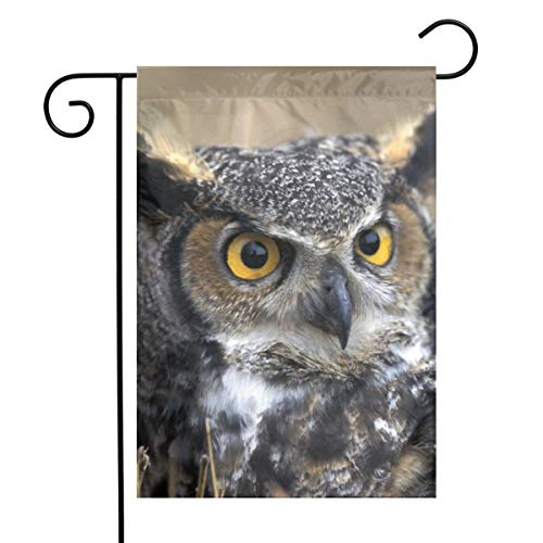 Great Horned Owl Garden Flags Home Indoor & Outdoor Holiday Decorations,Waterproof Polyester Yard Decorative \r\nFor Game Family Party Banner ()