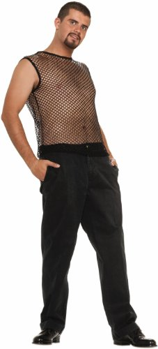 Forum Novelties Hip Hop Sleeveless black Mesh Top by Forum Novelties