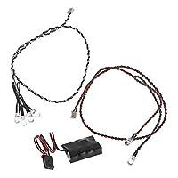 Juego de luces LED axiales AX24257 (4 blancas y 2 rojas) con controlador, negro
