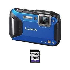 Panasonic Lumix DMC-TS5 16.1 MP Digital Camera + 8GB SDHC Card (Blue)