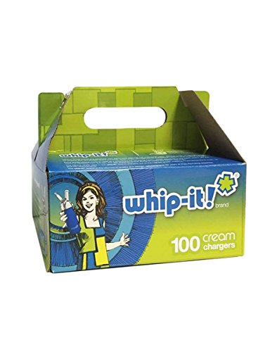Whip-it! SV-6100:SV-0100 Cream Chargers 100-Pack, Small, White