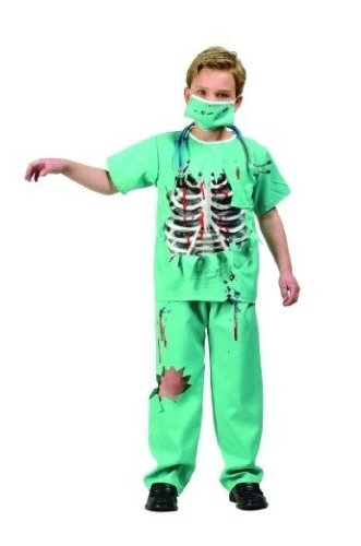 RG Costumes Scary E.R. Doctor Costume, Green/White/Red,