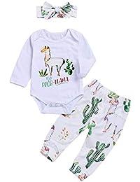Baby Girls Boys Romper Newborn Alpaca Print Bodysuit...
