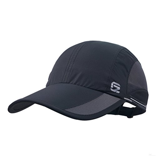 GADIEMKENSD Quick Dry Sports Hat Lightweight Breathable Soft Outdoor Run Cap (Classic Upgrade, Black) ()