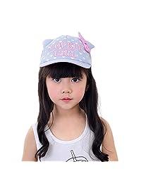 Baseball Cap Child Girls Soft Cotton Embroidery Bowknot Outdoor Spring Summer Sun Hat