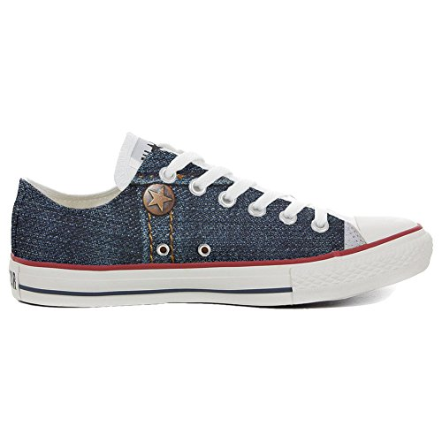 Style Schuhe Personalisierte All Converse TG37 Low Slim Schuhe Jeans mys Customized Handwerk Unisex Star zU1Yn7