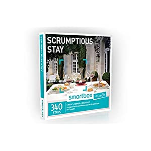 Buyagift One Night Scrumptious Stay Experience Gift Box – 340 overnight stays with a two or three course dinner and breakfast for two people
