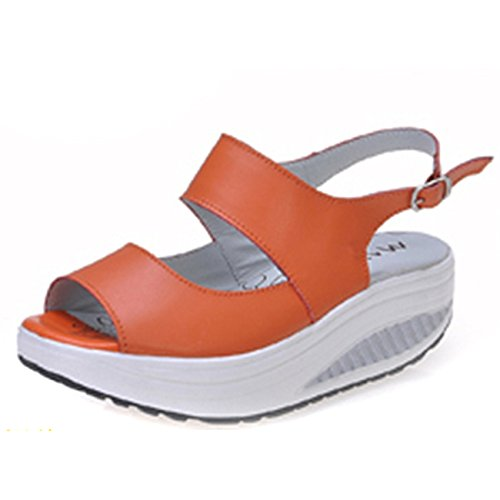 casual grueso grueso calzado de Forty Balanceo femenino playa two de pescado boca inferior inferior zapatos Donyyyy HwqTfa