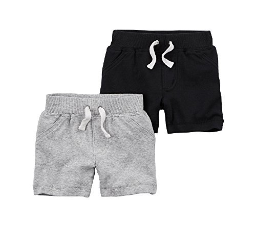 Carter's Baby Boys' 2-Pk. Shorts 24 Months, Black/Gray