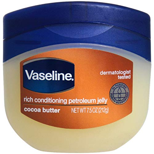 Vaseline Rich Conditioning Petroleum Jelly, Cocoa Butter, 7.5 Ounce (Pack of 6) (Vaseline Hair)