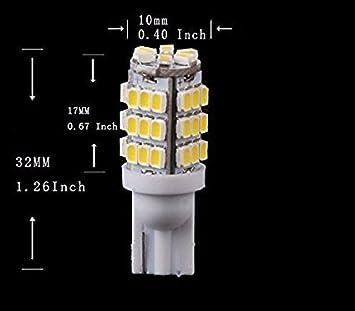 AUTOUS90 10 x RV Trailer T10 921 194 168 2825 42-SMD 12V Backup Reverse LED Warm White Lights Bulbs 4332998365
