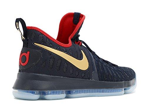 Nike Zoom KD 9 Lmtd, Scarpe da Basket Uomo Nero (Dark Obsidian Oro / Metallic)