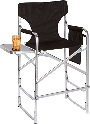 Trademark-Innovations-METALDIREC-TALL-BL-Aluminum-Frame-Tall-Metal-Directors-Chair-with-Side-Table-Black