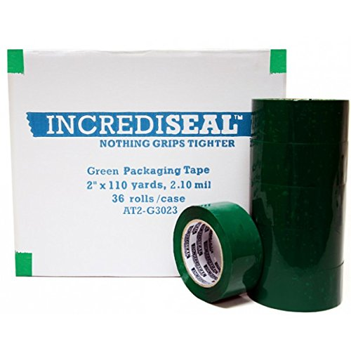 "INCREDISEAL Polypro, 2"" x 110 Yards, x 2.10 mil, Green Packa"