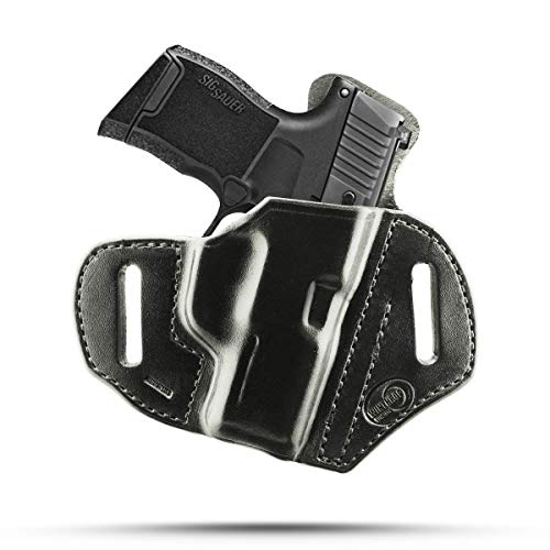 Winthrop Holsters OWB Pancake Black Leather Holster (Sig Sauer P365#1296)
