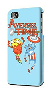 Adventure Time Finn and Jake Snap on Plastic Case Cover Compatible with Apple iPhone 4 and 4s