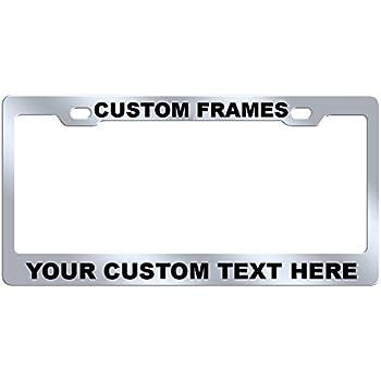 GoPlates Custom License Plate Frame Laser Engraved Stainless Steel  sc 1 st  Amazon.com & Amazon.com: Custom License Plate Frame PERSONALIZE On Line Now ...