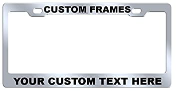 custom license plate frame laser engraved stainless steel