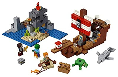 LEGO Minecraft The Pirate Ship Adventure 21152 Building Kit (386 Piece) by LEGO