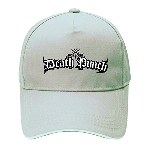 MT Five Finger Death Punch Logo Cotton Hip Hop Baseball Caps - Baseball Logo Beige