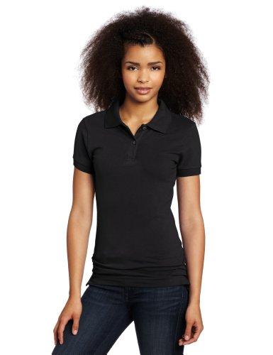 - Lee Uniforms Juniors Stretch Pique Polo, Old Black, XX-Large
