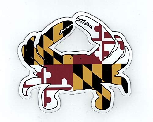 Maryland FLAG Blue Crab Car Refrigerator Large OUTDOOR Magnet 5.5