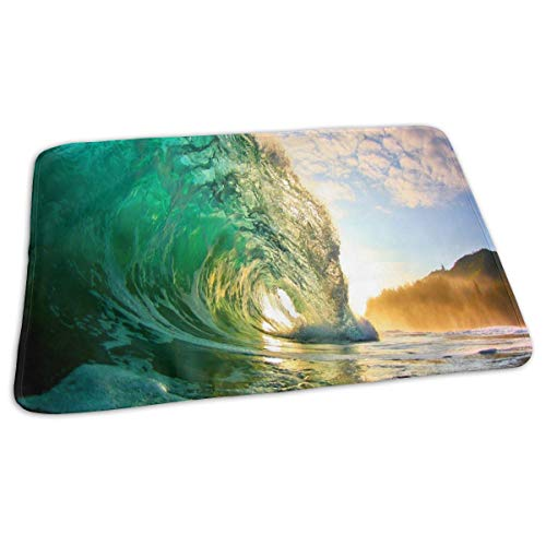 Changing Pad Hawaii Beautiful Sunset Sea Waves Baby Diaper Incontinence Pad Mat Custom Girls Waterproof Sheet Sheet for Any Places for Home Travel Bed Play Stroller Crib Car