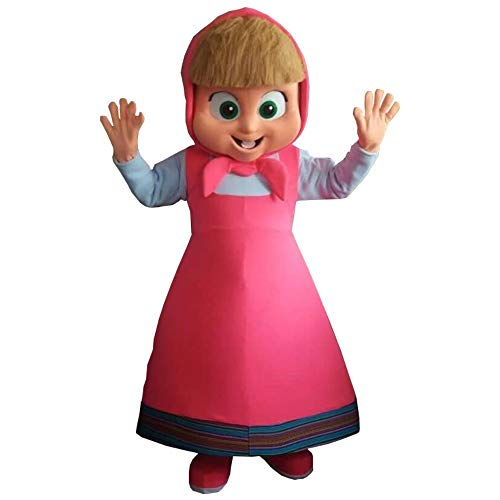 Masha and The Bear Mascot Costume Party Character Adult Halloween Cosplay Suit]()