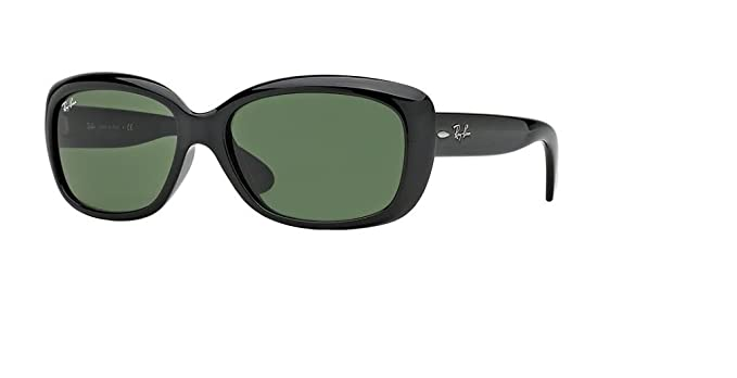 05fcfcec30 Ray-Ban RB4101 JACKIE OHH 601 58M Black Green Sunglasses For Men For Women
