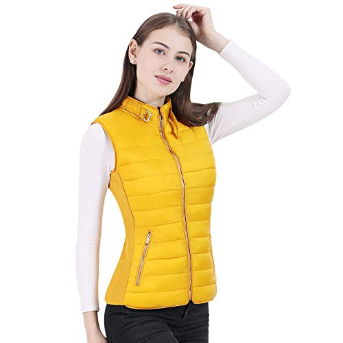 MICOZIFY Women's Puffer Vest, Quilted Lightweight Gilet, Padded Bubble Vest with Faux Fur Lining