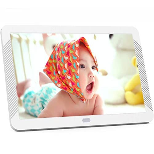 8 Inch Digital Photo Frame with 1920x1080 IPS Screen, Digital Picture Frame Support Adjustable Brightness, Photo Deletion, 1080P Video, Music,Slideshow,Remote,16:9 Widescreen,Suppot 128GB SD Card, USB