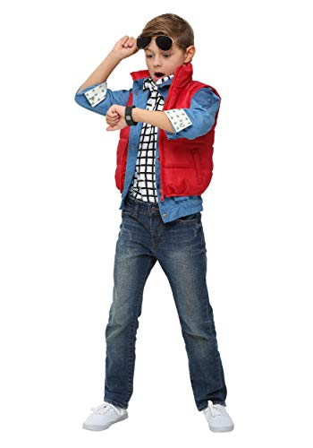 (Marty McFly Puffer Vest Costume Back to the Future Child Marty McFly Costume)